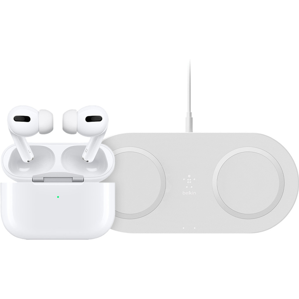 Apple Airpods Pro + Dual Draadloze oplader